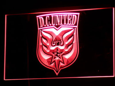 Washington DC United LED Neon Sign - Legacy Edition - Red - SafeSpecial