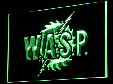 W.A.S.P. LED Neon Sign - Green - SafeSpecial