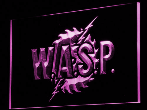 W.A.S.P. LED Neon Sign - Purple - SafeSpecial