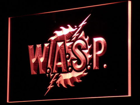 W.A.S.P. LED Neon Sign - Red - SafeSpecial