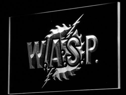 W.A.S.P. LED Neon Sign - White - SafeSpecial