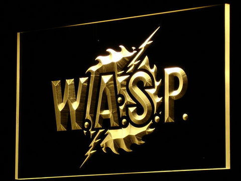 W.A.S.P. LED Neon Sign - Yellow - SafeSpecial