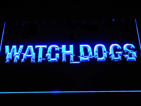 Image of Watch Dogs LED Neon Sign - Blue - SafeSpecial