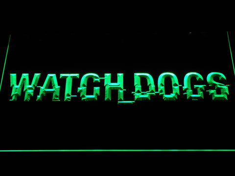 Image of Watch Dogs LED Neon Sign - Green - SafeSpecial