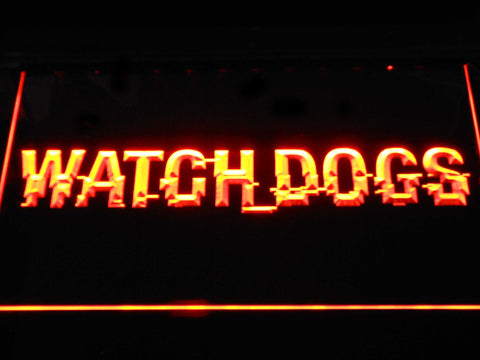 Image of Watch Dogs LED Neon Sign - Orange - SafeSpecial
