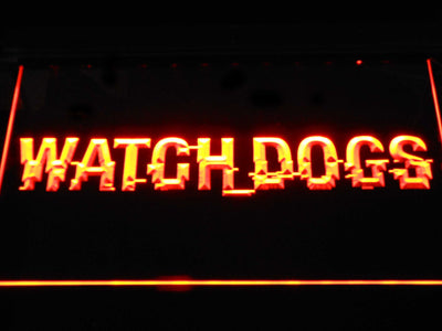 Watch Dogs LED Neon Sign - Orange - SafeSpecial