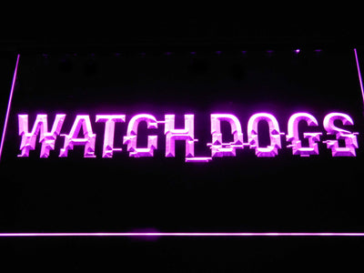 Watch Dogs LED Neon Sign - Purple - SafeSpecial