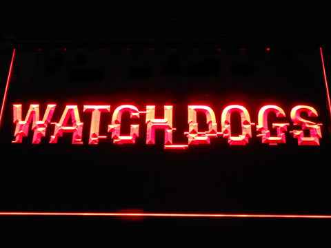 Image of Watch Dogs LED Neon Sign - Red - SafeSpecial