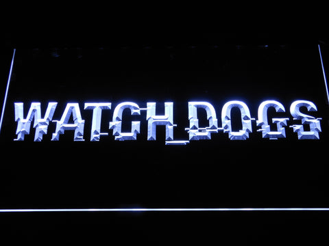 Image of Watch Dogs LED Neon Sign - White - SafeSpecial