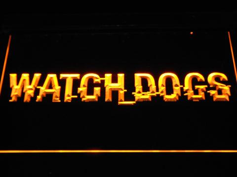 Image of Watch Dogs LED Neon Sign - Yellow - SafeSpecial