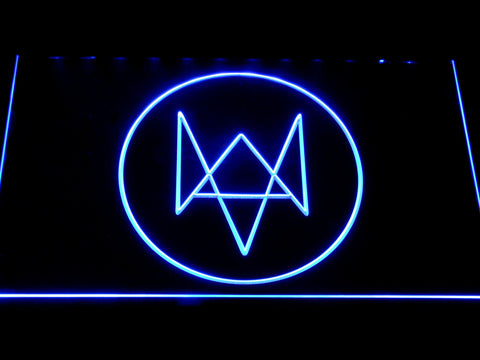 Watch Dogs Logo LED Neon Sign - Blue - SafeSpecial
