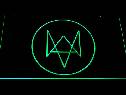 Watch Dogs Logo LED Neon Sign - Green - SafeSpecial