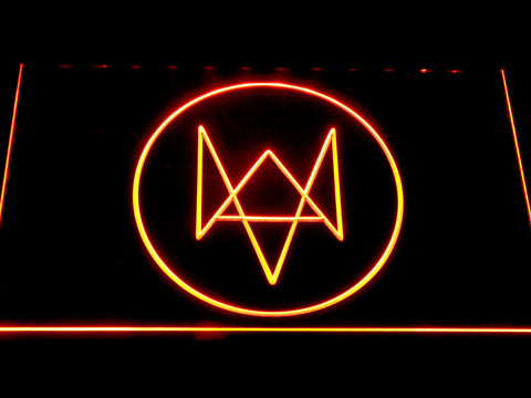 Watch Dogs Logo LED Neon Sign - Orange - SafeSpecial