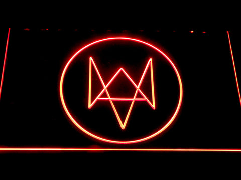 Watch Dogs Logo LED Neon Sign - Red - SafeSpecial