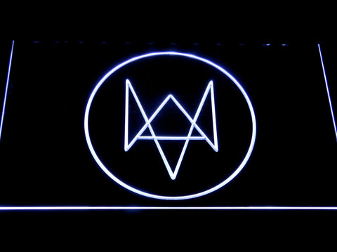 Watch Dogs Logo LED Neon Sign - White - SafeSpecial