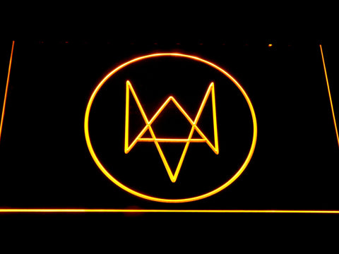 Watch Dogs Logo LED Neon Sign - Yellow - SafeSpecial
