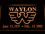 Waylon Jennings LED Neon Sign - Orange - SafeSpecial