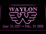 Waylon Jennings LED Neon Sign - Purple - SafeSpecial