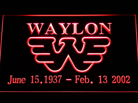 Waylon Jennings LED Neon Sign - Red - SafeSpecial