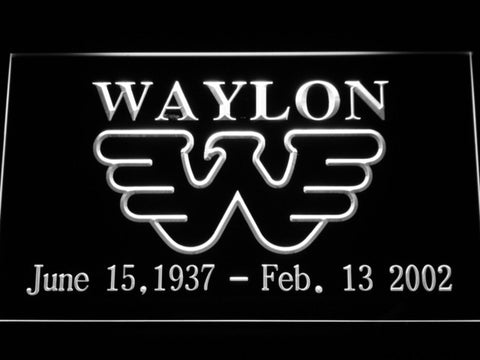 Waylon Jennings LED Neon Sign - White - SafeSpecial