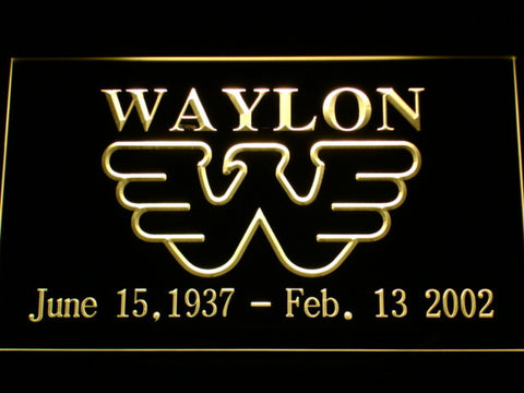 Waylon Jennings LED Neon Sign - Yellow - SafeSpecial