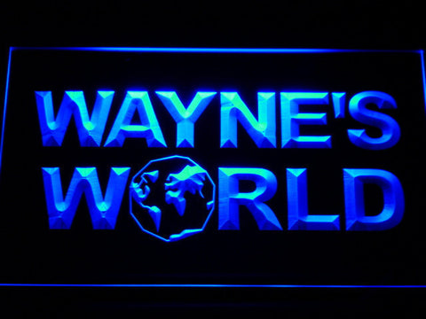 Image of Wayne's World LED Neon Sign - Blue - SafeSpecial