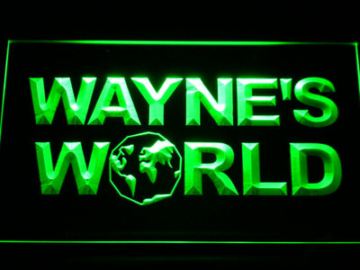 Wayne's World LED Neon Sign - Green - SafeSpecial