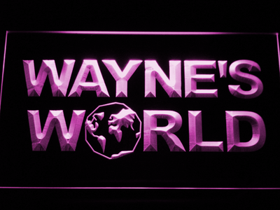 Wayne's World LED Neon Sign - Purple - SafeSpecial
