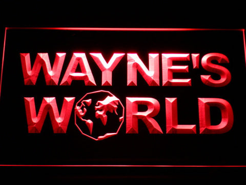 Image of Wayne's World LED Neon Sign - Red - SafeSpecial