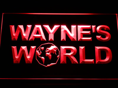 Wayne's World LED Neon Sign - Red - SafeSpecial