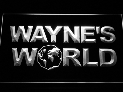 Wayne's World LED Neon Sign - White - SafeSpecial