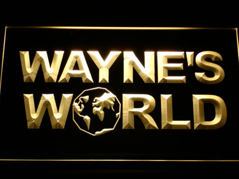 Image of Wayne's World LED Neon Sign - Yellow - SafeSpecial