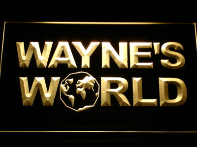 Wayne's World LED Neon Sign - Yellow - SafeSpecial