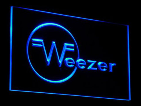 Weezer LED Neon Sign - Blue - SafeSpecial