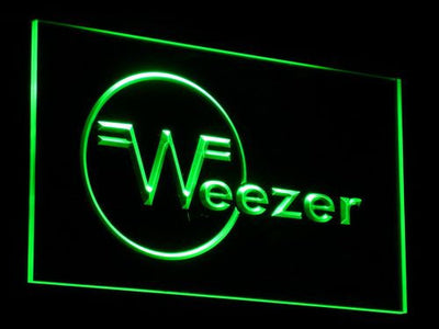 Weezer LED Neon Sign - Green - SafeSpecial