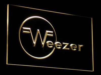 Weezer LED Neon Sign - Yellow - SafeSpecial