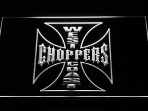 West Coast Choppers LED Neon Sign - White - SafeSpecial