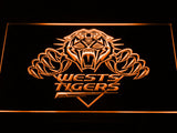 Wests Tigers LED Neon Sign - Orange - SafeSpecial