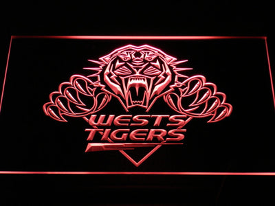 Wests Tigers LED Neon Sign - Red - SafeSpecial