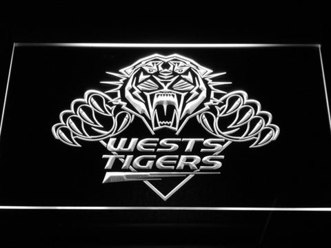 Wests Tigers LED Neon Sign - White - SafeSpecial