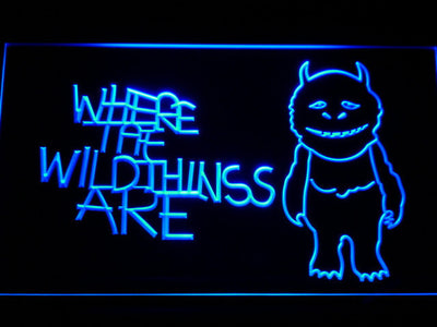 Where The Wild Things Are LED Neon Sign - Blue - SafeSpecial