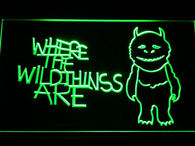 Where The Wild Things Are LED Neon Sign - Green - SafeSpecial