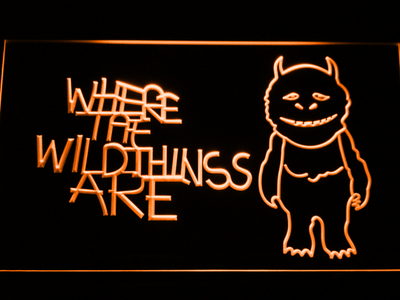 Where The Wild Things Are LED Neon Sign - Orange - SafeSpecial