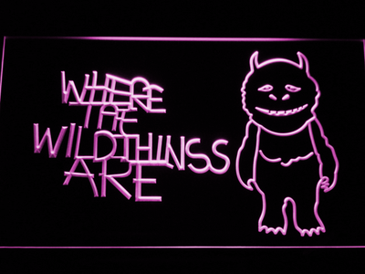 Where The Wild Things Are LED Neon Sign - Purple - SafeSpecial
