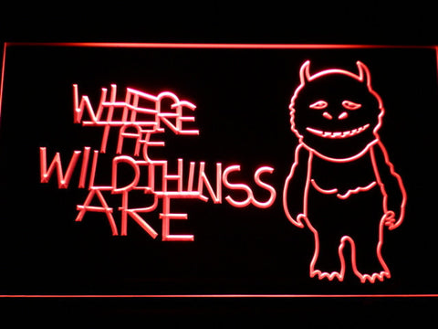Image of Where The Wild Things Are LED Neon Sign - Red - SafeSpecial