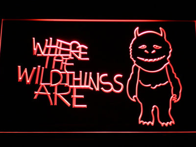Where The Wild Things Are LED Neon Sign - Red - SafeSpecial