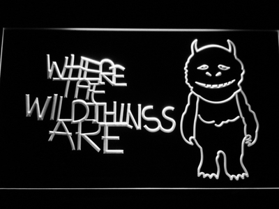 Where The Wild Things Are LED Neon Sign - White - SafeSpecial