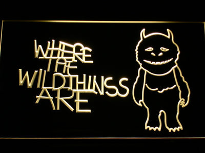 Where The Wild Things Are LED Neon Sign - Yellow - SafeSpecial