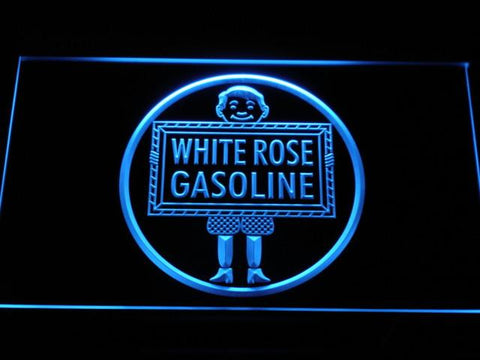 Image of White Rose Gasoline - En-Ar-Co Boy LED Neon Sign - Blue - SafeSpecial