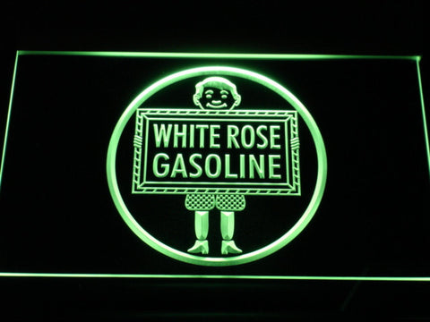 Image of White Rose Gasoline - En-Ar-Co Boy LED Neon Sign - Green - SafeSpecial